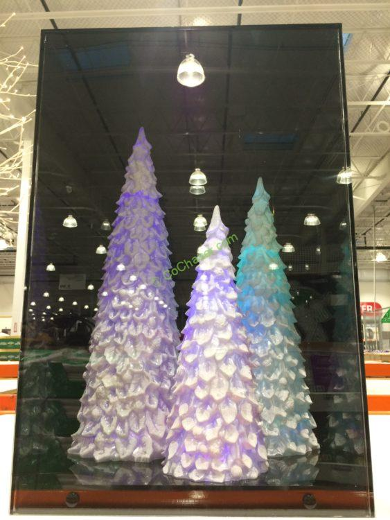 LED Color Changing Trees, Set of 3
