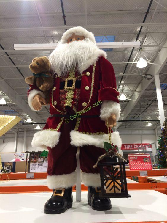 "36"" Fabric Santa with Lantern"