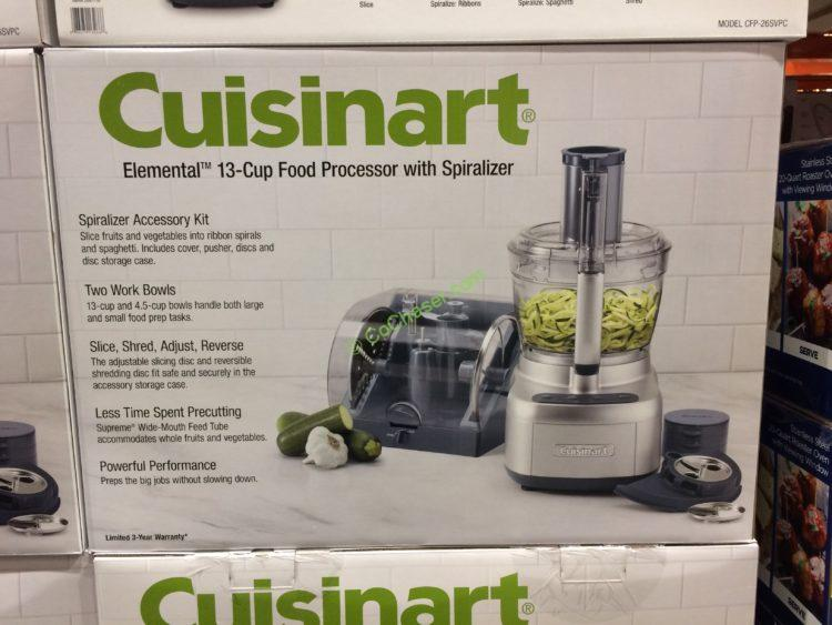 Cuisinart 13 Cup Food Processor With Accessory Case Model