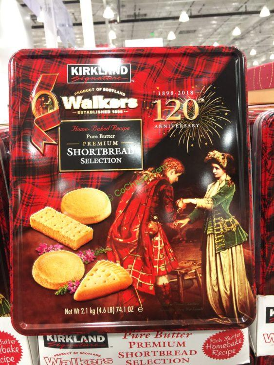 Kirkland Signature Walkers Premium Shortbread Selection 74.1 Ounce Tin