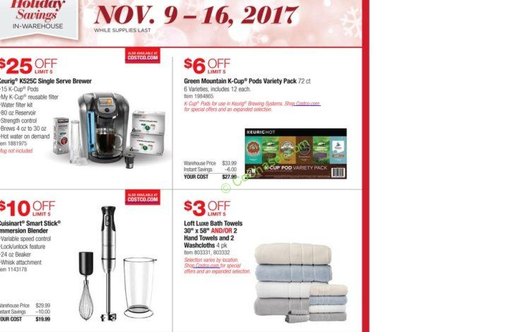 Costco Pre Black Friday Holiday Sale November 9 16