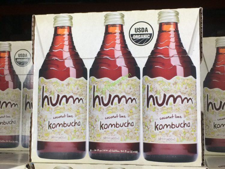 Humm Kombucha Organic Coconut Lime 6/14 Ounce Bottles