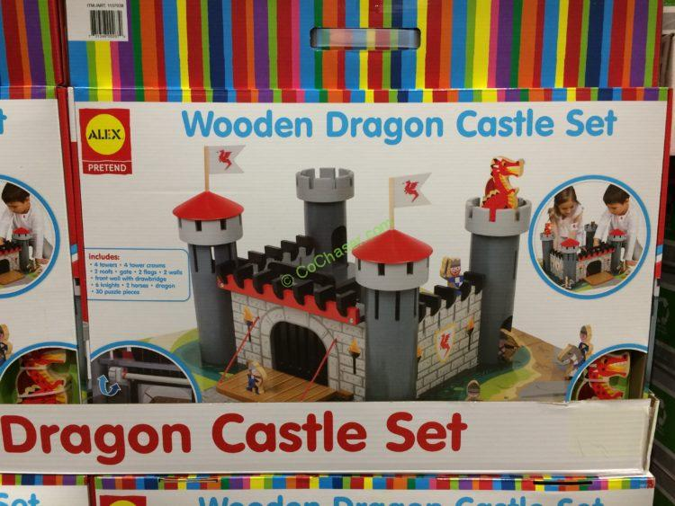 Alex Wooden Dragon Castle 55 Piece Set