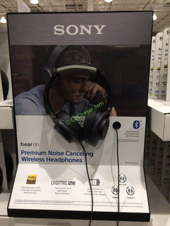 Sony Noise Canceling Bluetooth Headphones, Model# MDR-100ABN