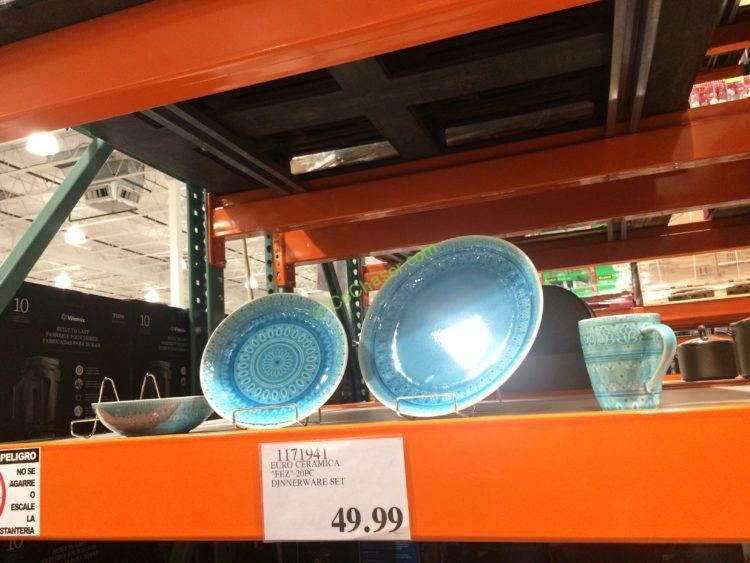 """EURO Ceramica """"FEZ"""" 20PC Dinnerware Set"""