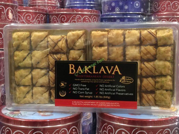 LA Boulangerie Baklava Selection 57 Count Container