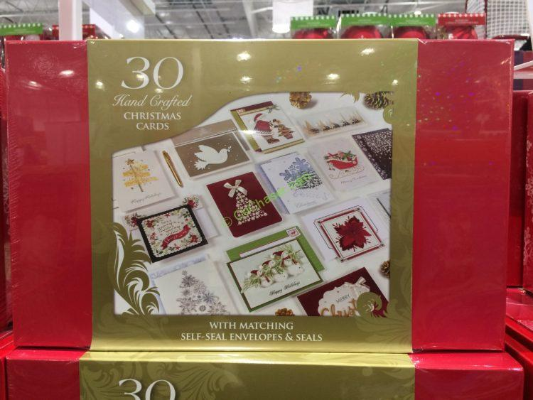 costco 1456734 hand crafted christmas cards set box