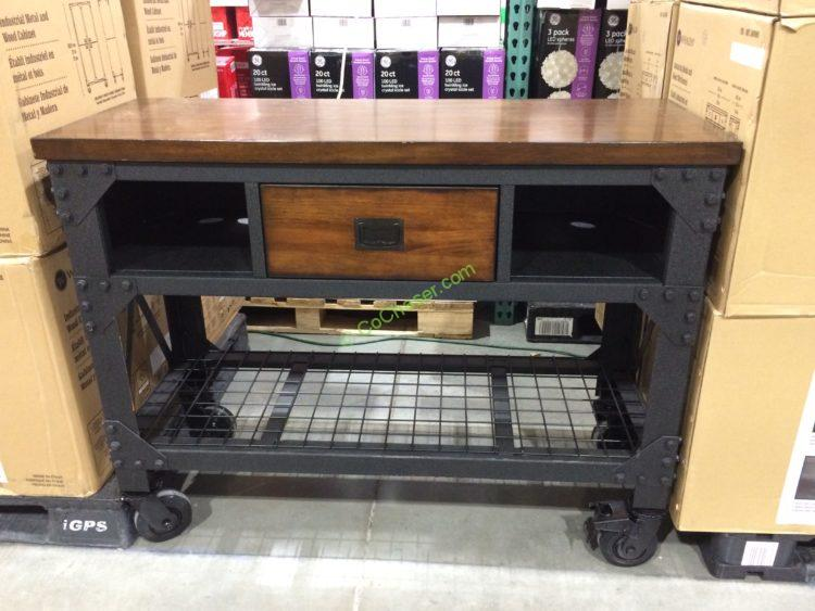 "Whalen 48"" Metal & Wood Workbench"