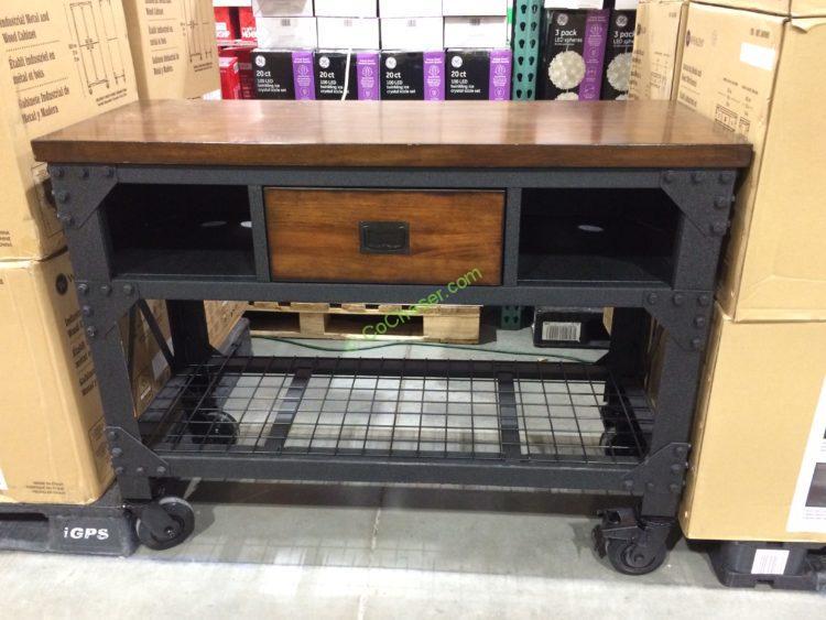 "Whalen 48"" Metal & Wood Workbench"