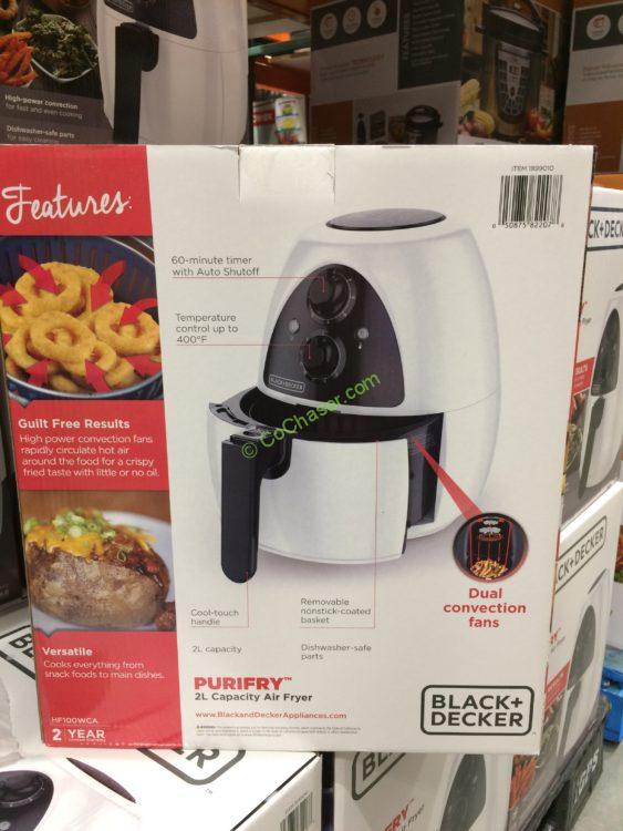 Costco 1899010 Black Decker Purifry Electric Air Fryer Pic