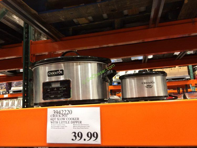 Crock-Pot 6QT Slow Cooker with Little Dipper, Model#SCCPVFC609-S1