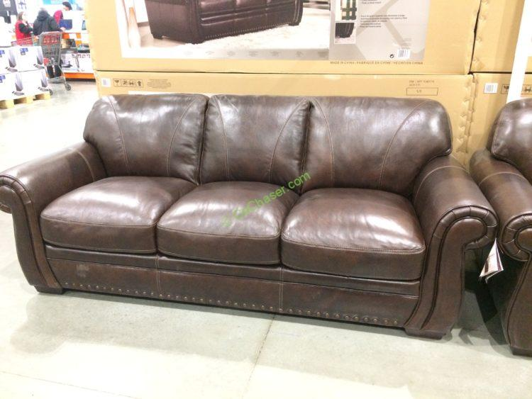 Costco 1049174 1049175 Simon Li Leather Sofa Loveseat