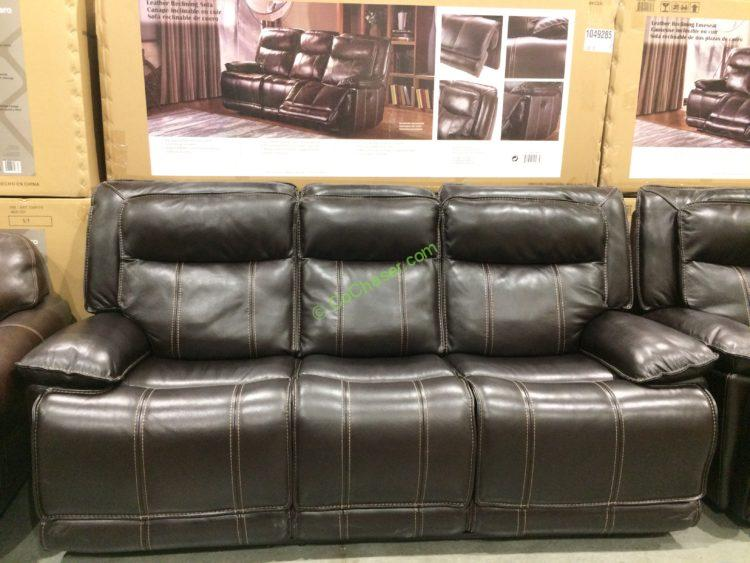 Costco 1049285 1049286 Leather Reclining Sofa Loveseat