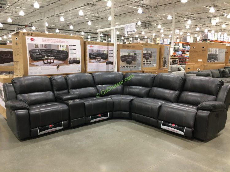 Remarkable Pulaski Furniture Leather Power Reclining Sectional Bralicious Painted Fabric Chair Ideas Braliciousco