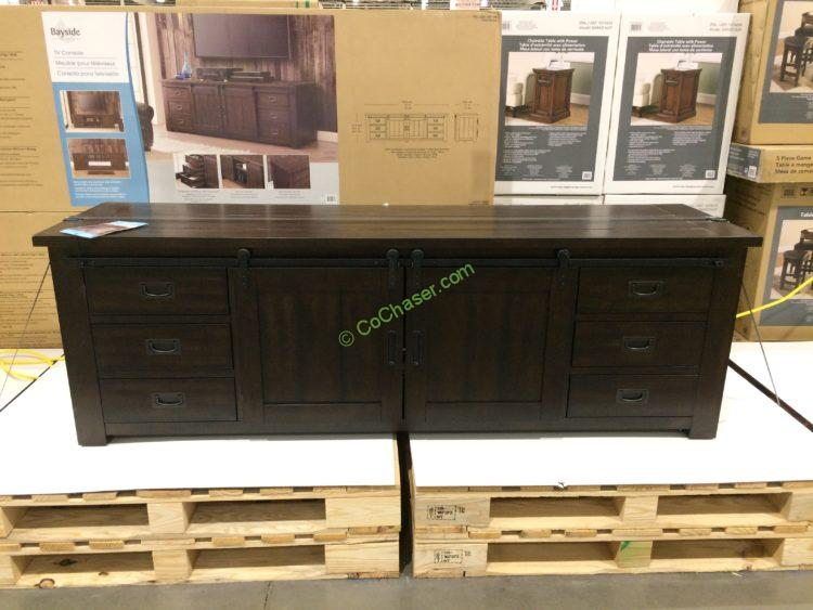 Bayside Furnishings Low TV Console