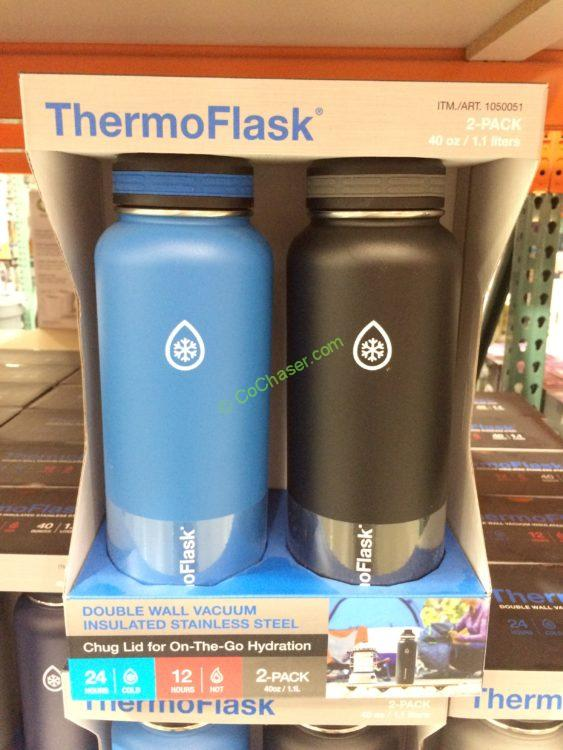 Thermoflask Stainless Steel Water Bottles 2PK – CostcoChaser