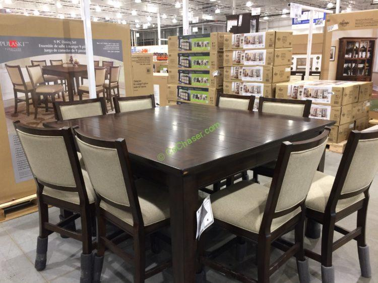 Pulaski Furniture 9pc Counter Height Dining Set Costcochaser