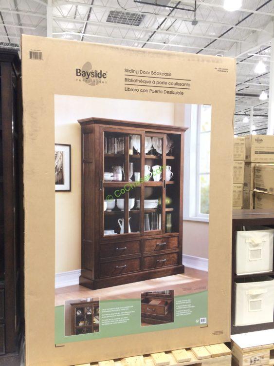 Bayside Furnishings Sliding Door Bookcase