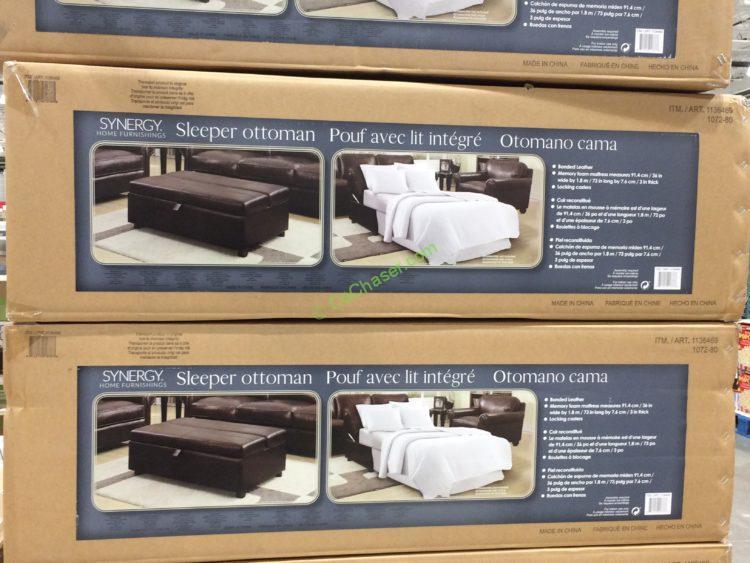 Costco 1136469 Synergy Home Sleeper Ottoman All