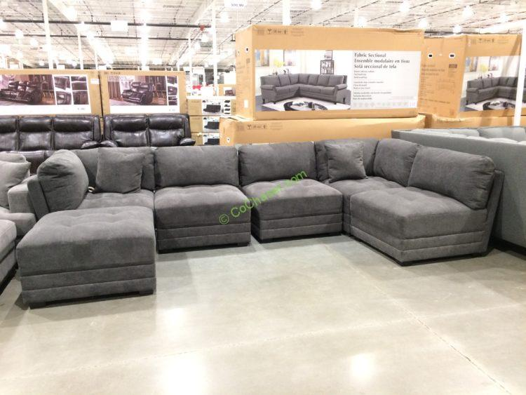 Bainbridge Fabric Sectional with Ottoman
