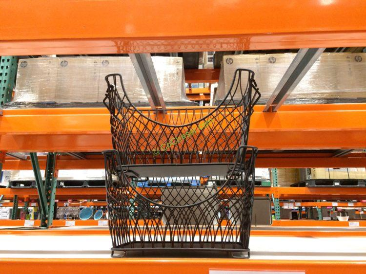 MESA 2 Pack Stacking Metal Baskets