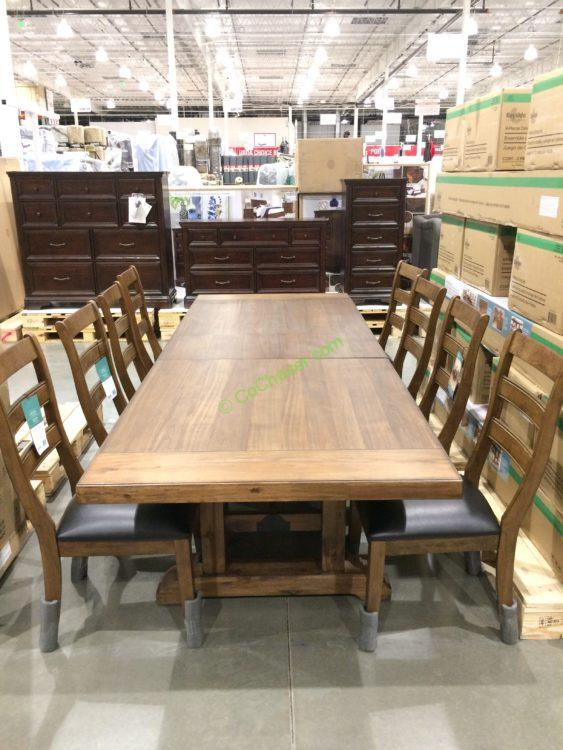 Bayside Furnishings 9PC Dining Set – CostcoChaser