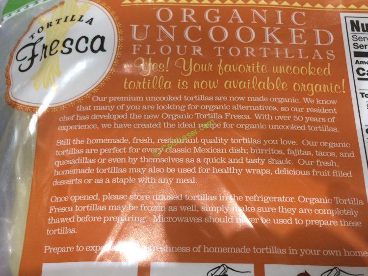 Costco 907160 Tortilla Fresca Organic Uncooked Flour Tortillas Inf Costcochaser