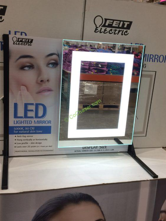 "Feit Electric LED Mirror 24"" X 32"" with Anti Fog"
