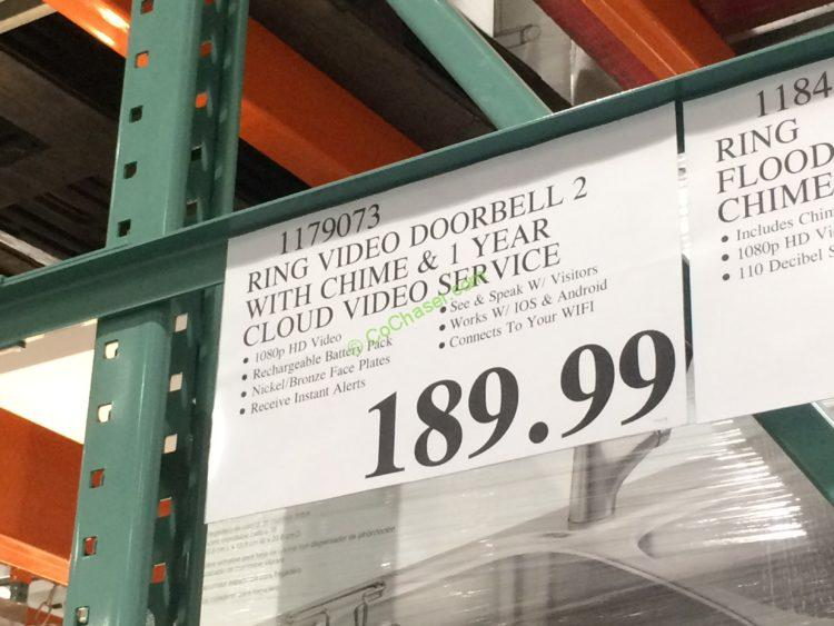 Costco 1179073 Ring Video Doorbell2 With Chime Tag