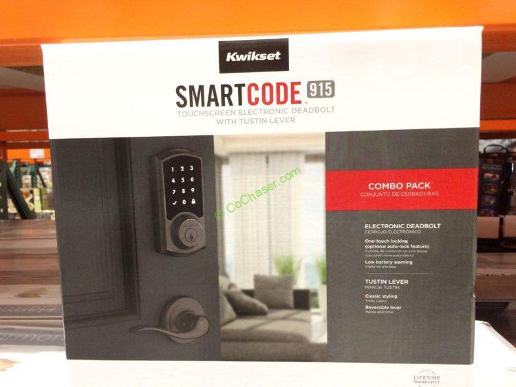 Kwikset SmartCode 915 Touchscreen Electronic Deadbolt Combo Set