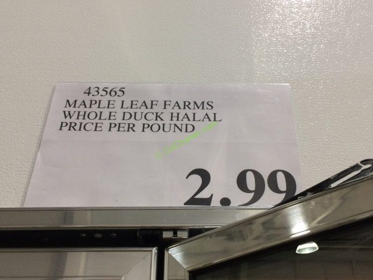 Costco-43565-Maple-Leaf-Farms-Whole-Duck-Halal -tag