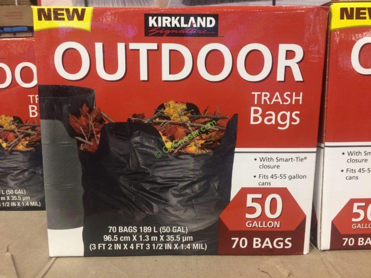 Kirkland Signature 50 Gallon Outdoor Trash Bag, 70-count