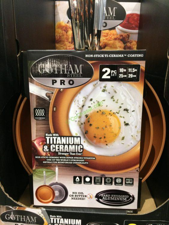 Gotham Steel PRO Ceramic Non-Stick Fry Pans 2PC