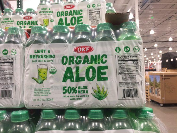 OKF Organic Aloe Vera Juice 10/16.9 Ounce Bottles