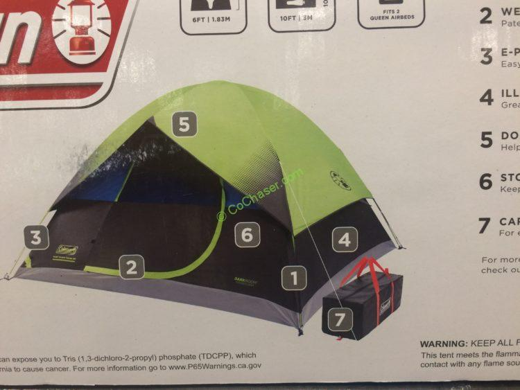 Costco-1177677-Coleman-6Person-Dark-Room-Fast-Pitch- & Coleman 6 Person Dark Room Fast Pitch Dome Tent u2013 CostcoChaser