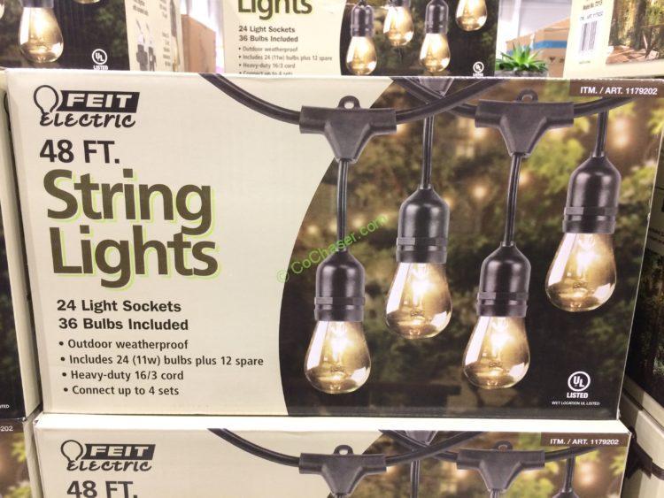 Feit Electric 48 Ft Incandescent String Lights, Model#72115