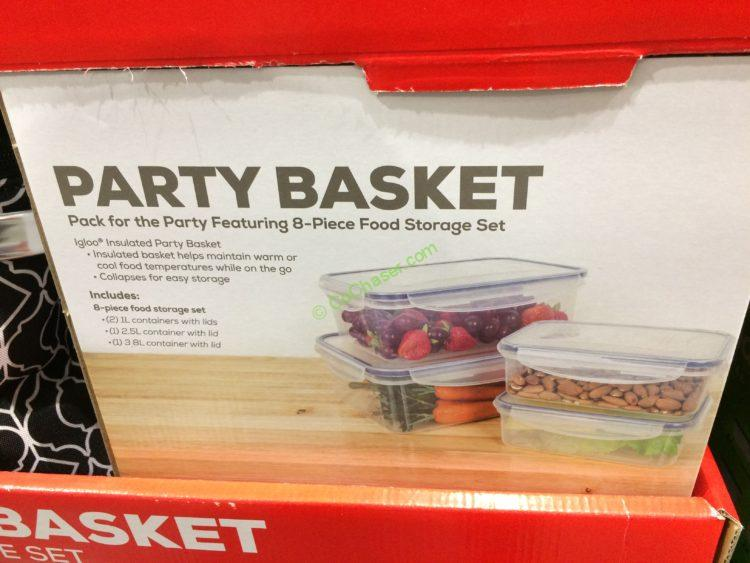 IGLOO Party Basket 8PC Plasticware Set