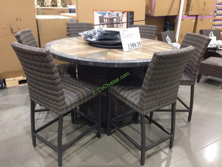 Agio 7pc High Dining Set Costcochaser