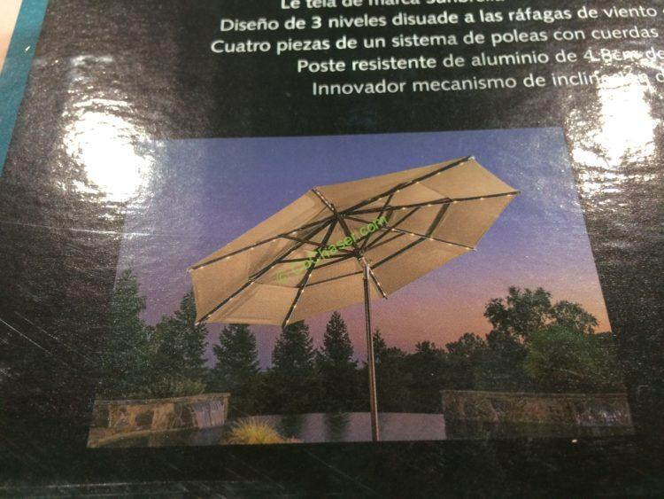 ProShade 11' LED Solar Aluminum Market Umbrella