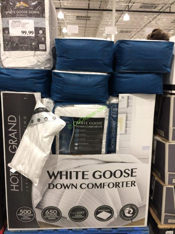 Hotel Grand White Down Goose Comforter King Costcochaser