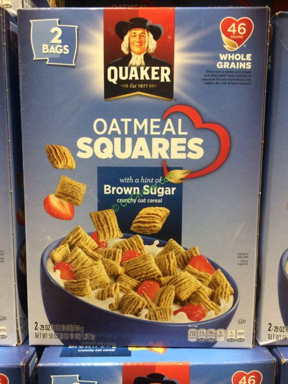 Quaker Toasted Oatmeal Square 58 Ounce Box