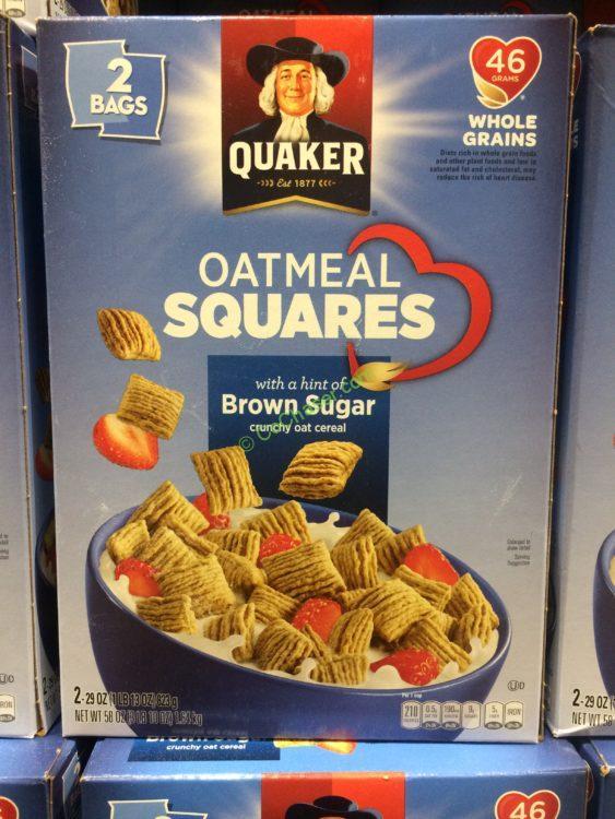 Quaker Toasted Oatmeal Square 58 Ounce Box