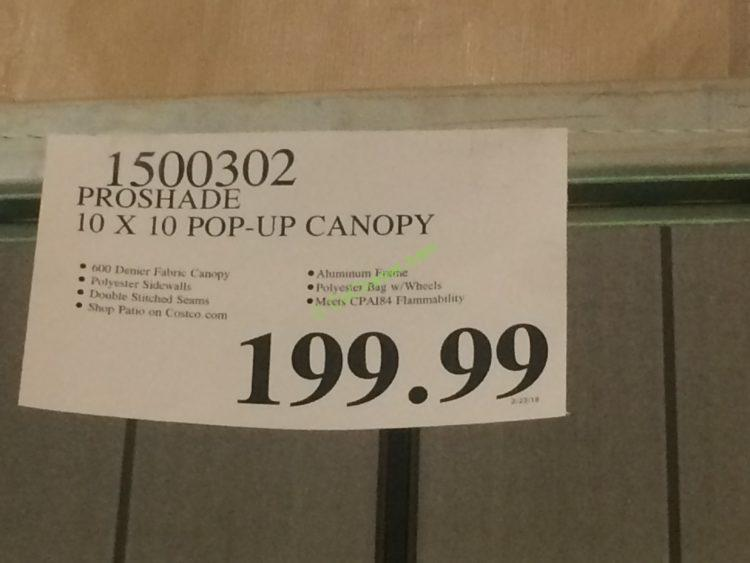 costco-1500302-proshade-10-10-folding-canopy-tag
