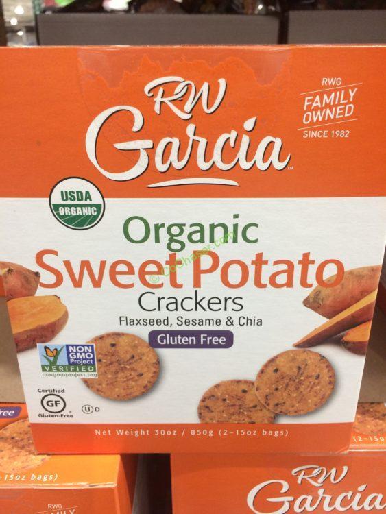 RW Garcia Organic Sweet Potato Crackers 30 Ounce Box