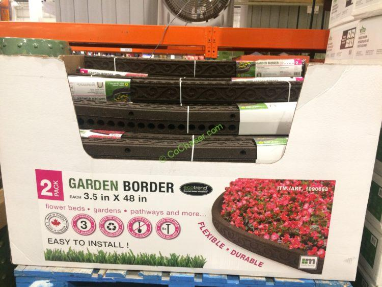 Costco 1090683 Ecotrend 2pk Flexible Rubber Garden Border