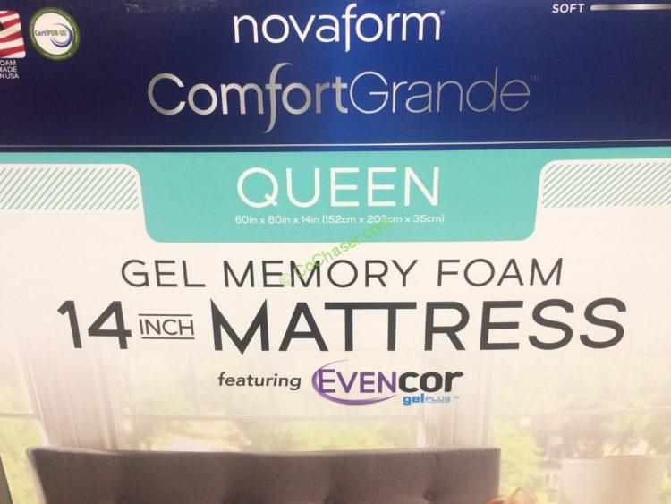 Costco 1129873 Novaform Comfort Grande With Evencor Queen Mattress Name Costcochaser