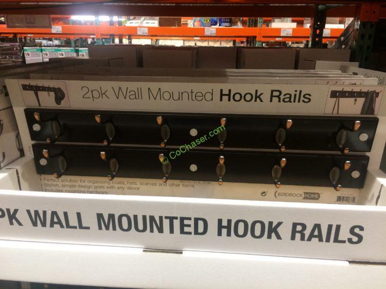 2PK Wall Mounted Hook Rail by Birdrock Home