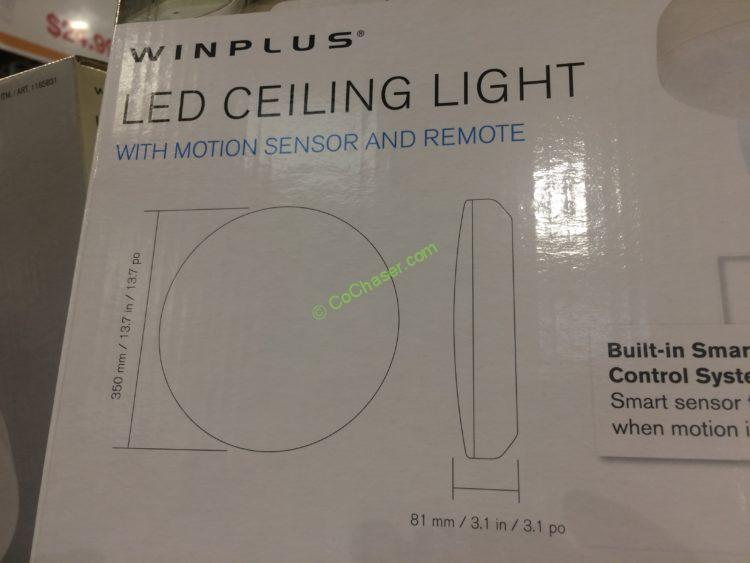Costco 1165831 Winplus Led Celling Light With Smart Sensors Size Costcochaser