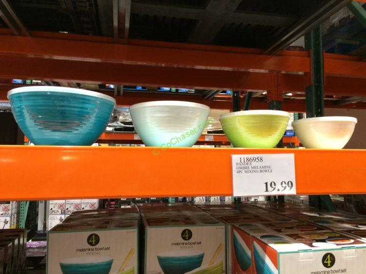 Pandex Ombre Melamine 4PC Mixing Bowls