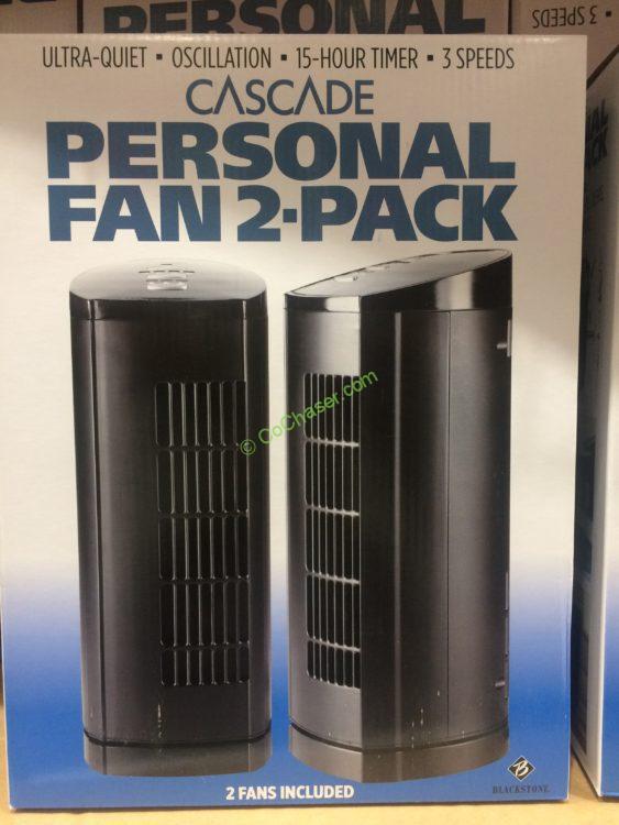 Blackstone Cascade Personal Fan 2 Pack, Model# PFC-13-18